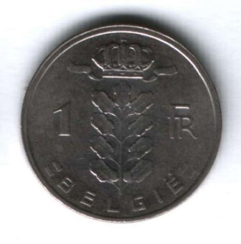 1 франк 1980 г. Бельгия