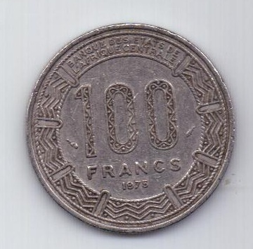 100 франков 1975 г. Камерун