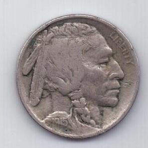 5 центов 1915 г. редкий год США