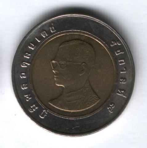 10 батов 2008 г. Таиланд, старый тип