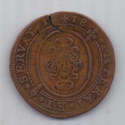 жетон 1618 г. Испания