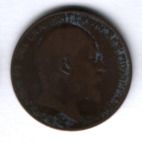 1 пенни 1907 г. Великобритания