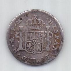 1 реал 1798/7 г. редкий год .Мексика. Испания